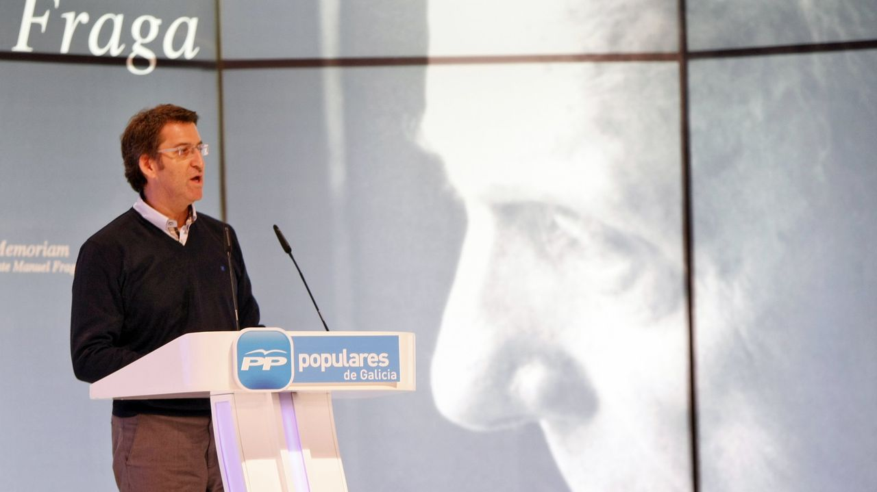 Imagen de archivo del homenaje organizado por el PP a Manuel Fraga en el 2012