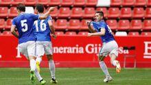 Javi Hernández celebra su gol al Sporting B