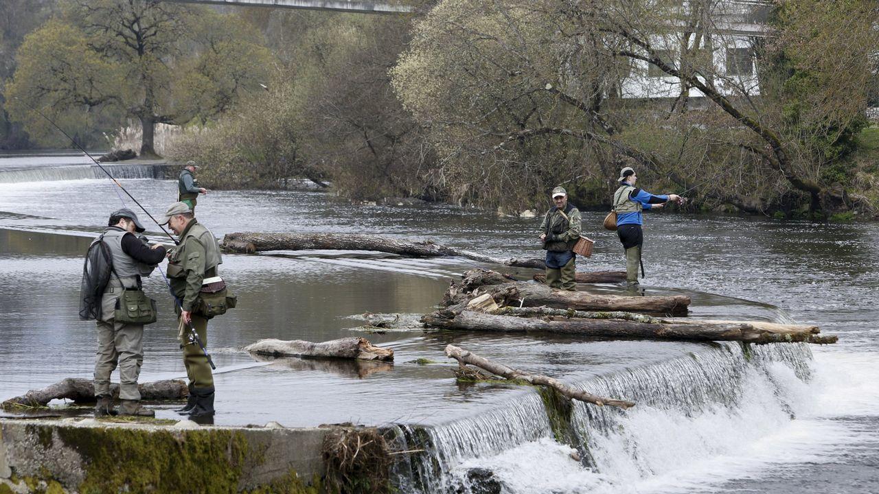 Pablo Casado: «Somos conscientes de los errores».Foto de archivo de pescadores en el río Miño, a su paso por Lugo