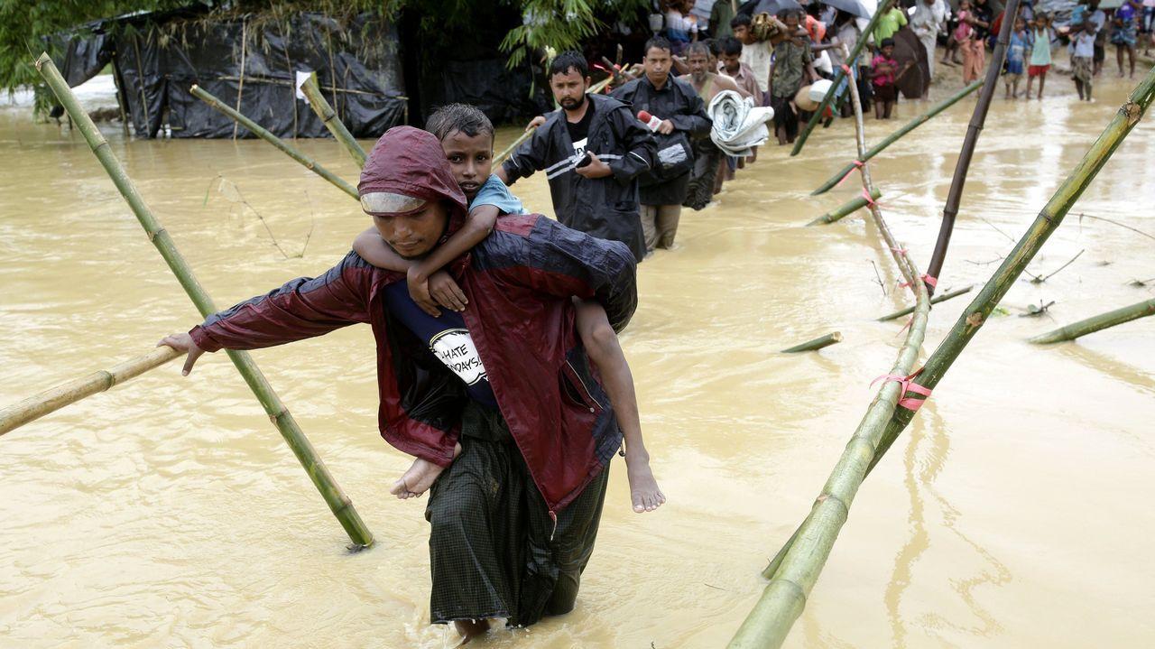 El éxodo de losrohinyás deBirmania y su confinamiento en campos de refugiados en Bangladés.La compostelana Patricia Trigales trabaja desde hace un mes en Bangladés