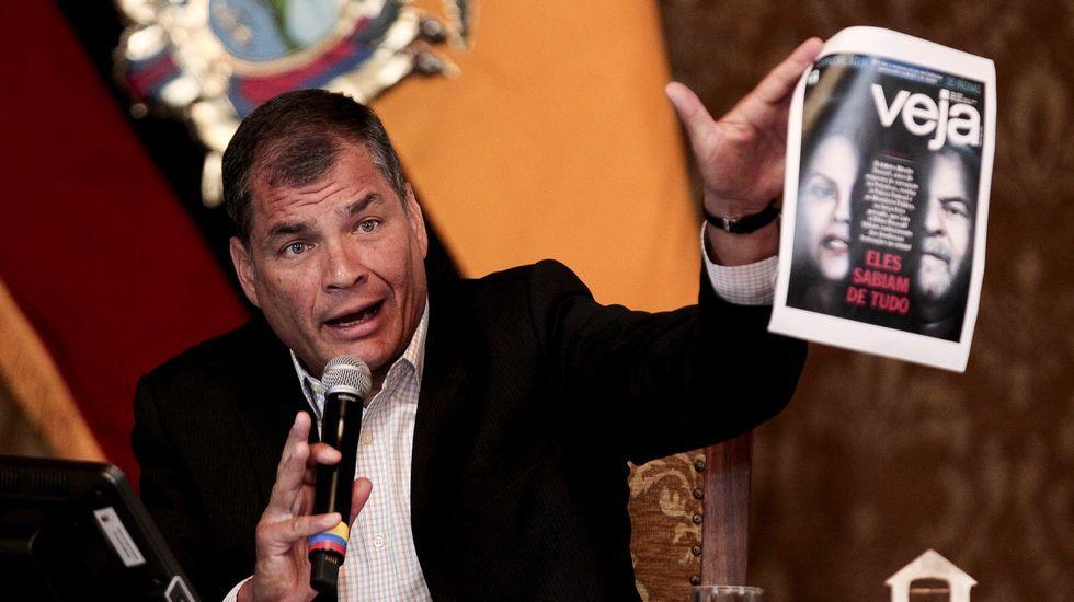 EN DIRECTO:Juan Guaidóaparece en públicotras su autoproclamación como presidente.El presidente saliente de Ecuador, Rafael Correa