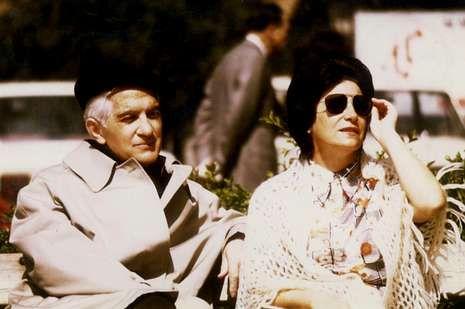 Blas de Otero y Sabina de la Cruz, en una foto de 1974.