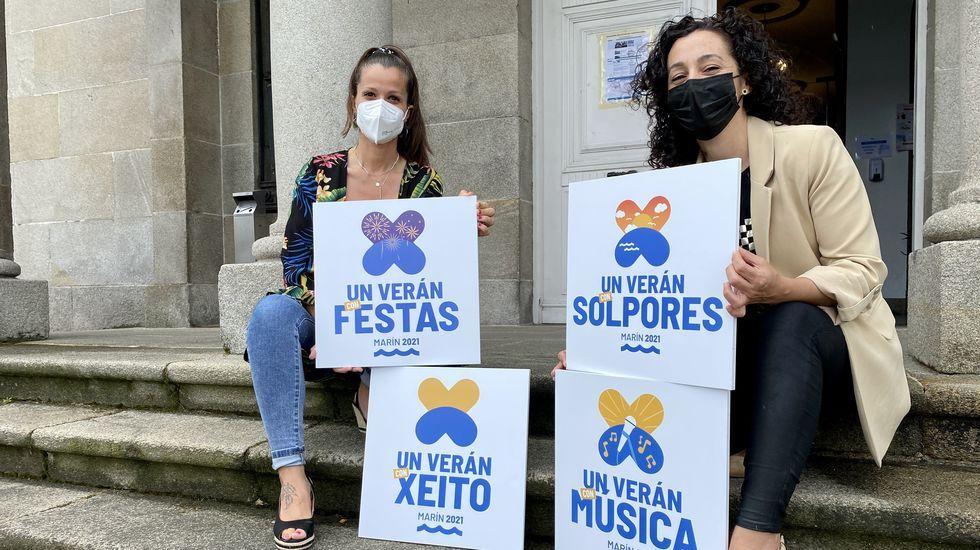 Las ediles Raquel Soage y Marián Sanmartín presentaron la programación cultural de Marín