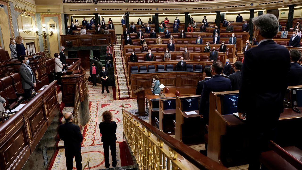 Los diputados guardaron hoy un minuto de silencio en el Congreso de los Diputados en recuerdo a las víctimas del 11M
