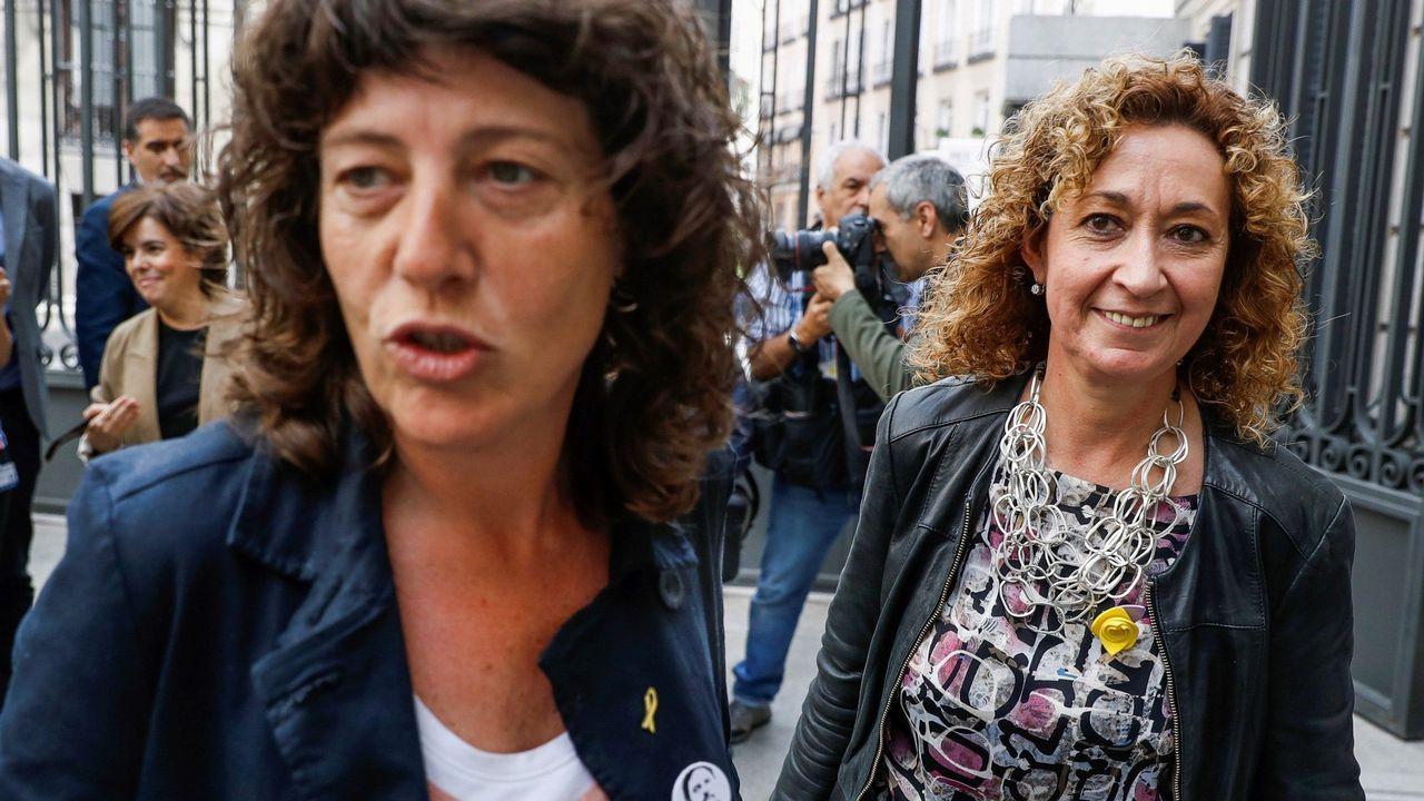 Las diputadas de ERC, Teresa Jordá y Ester Capella