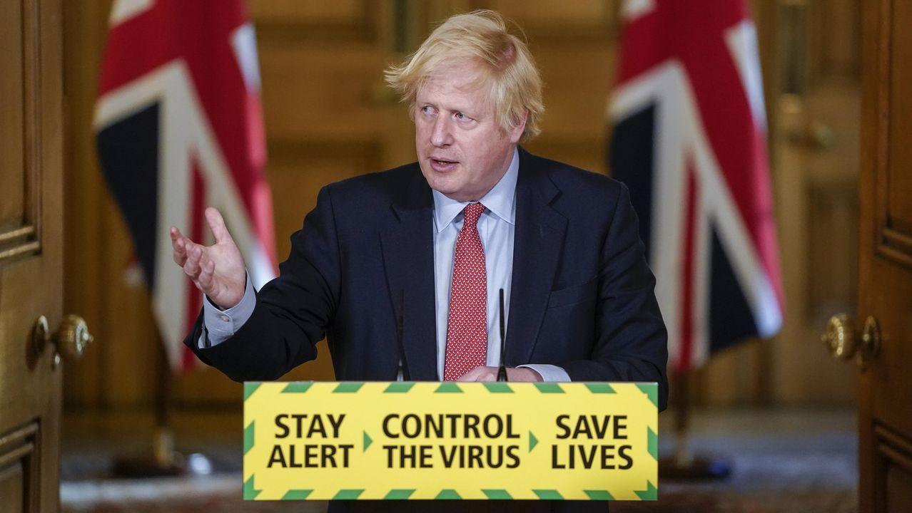 Johnson ha dado detalles de la desescalada del Reino Unido