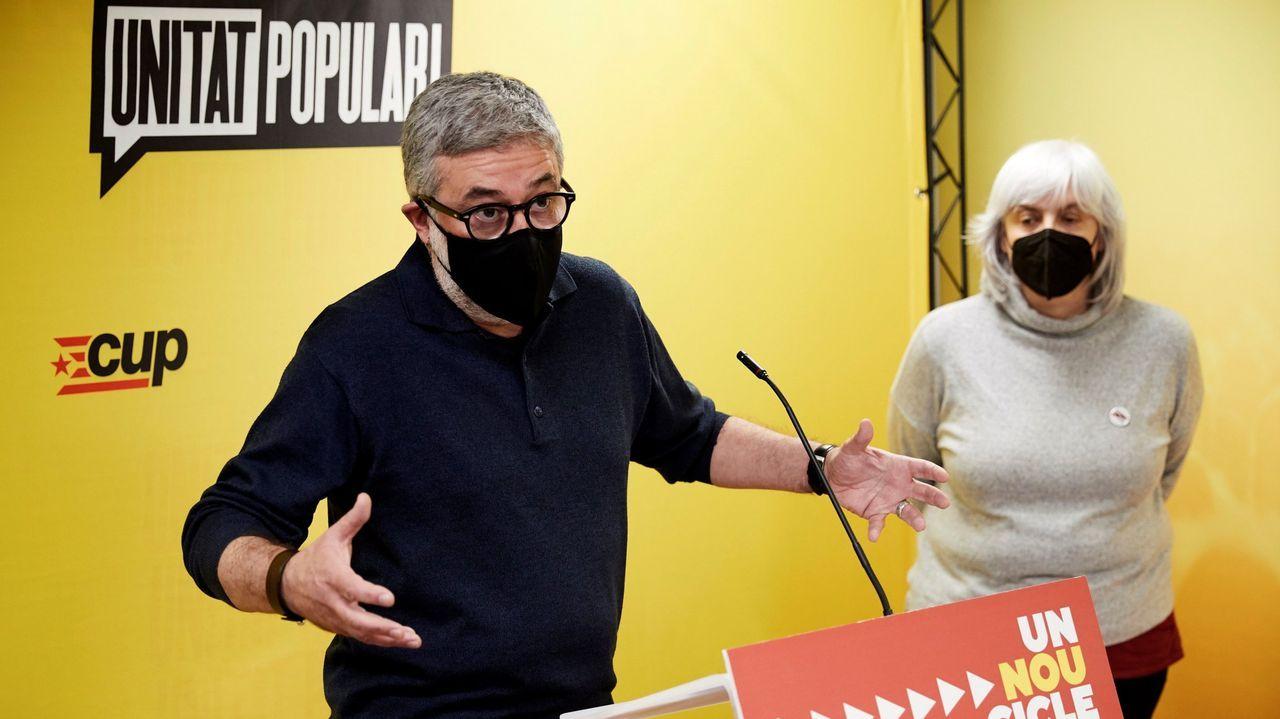 Carles Riera y Dolors Sabater, de la CUP, en una imagen de archivo