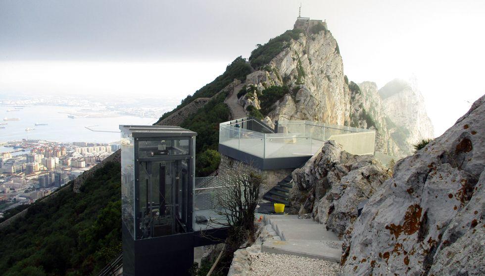 Una empresa gijonesa construye un mirador a 400 metros en Gibraltar