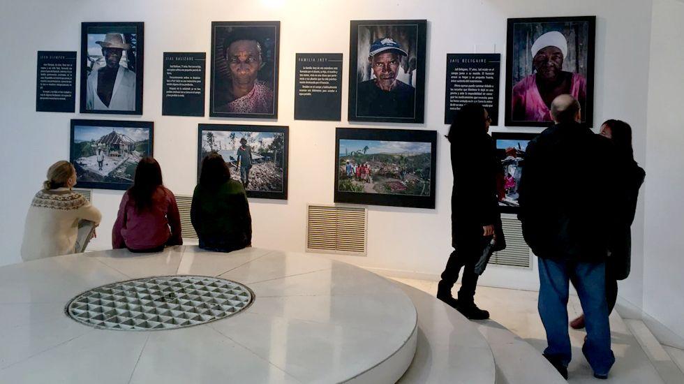 Un aspecto de la exposición «Haití en el camino», en el museo Barjola