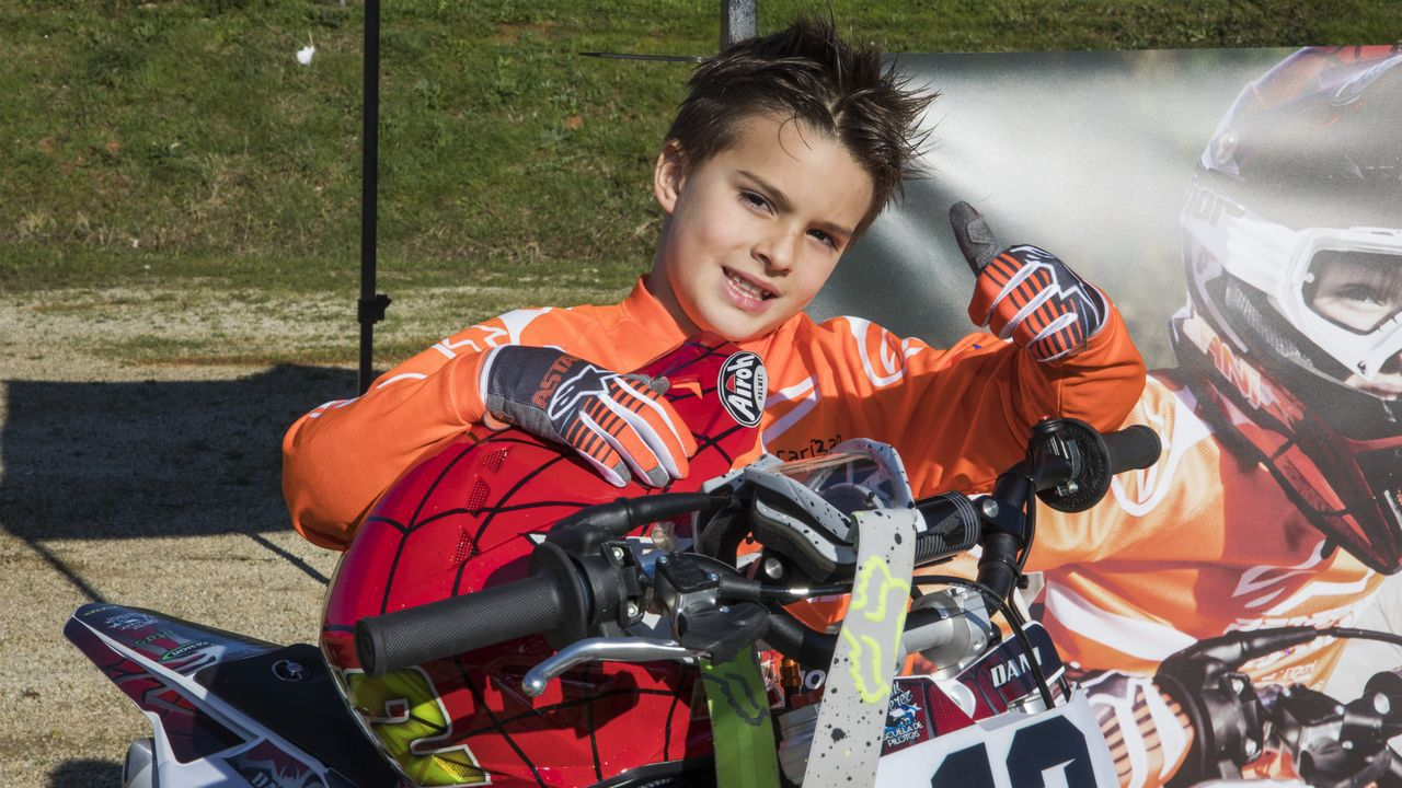 Daniel Díaz, un piloto de motocrós de siete años.Jorge Prado