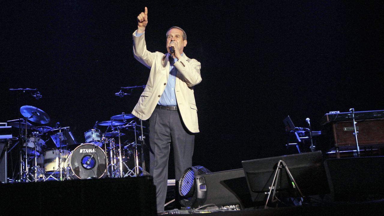 Abel Caballero, en el concierto de Lauryn Hill, el 17 de julio del 2019