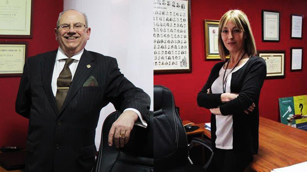 Joaquín Mastache e Inés Pañeda, en su despacho de Oviedo