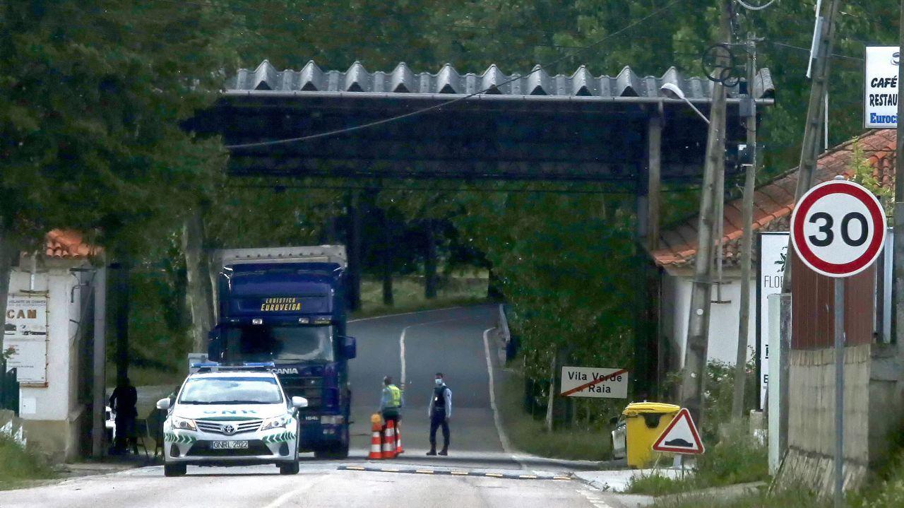Frontera entre España y Portugal en Vila Verde da Raia