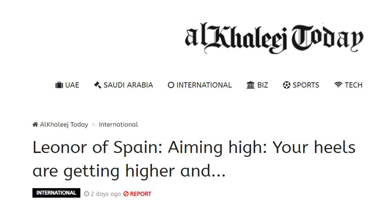 Leonor de España: Apuntar alto: Tus tacones son cada vez más altos y ...
