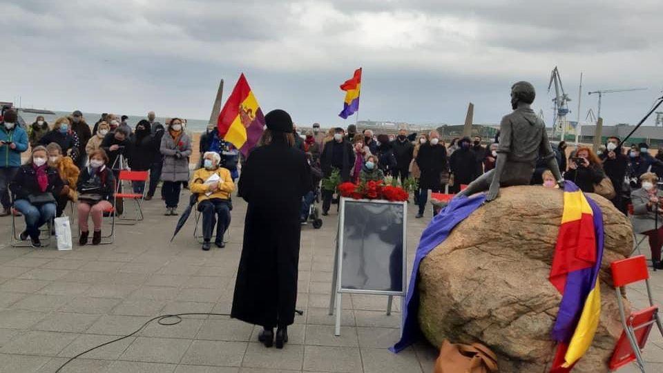 Homenaje celebrado durante la tarde por Araceli Ruiz Toribios
