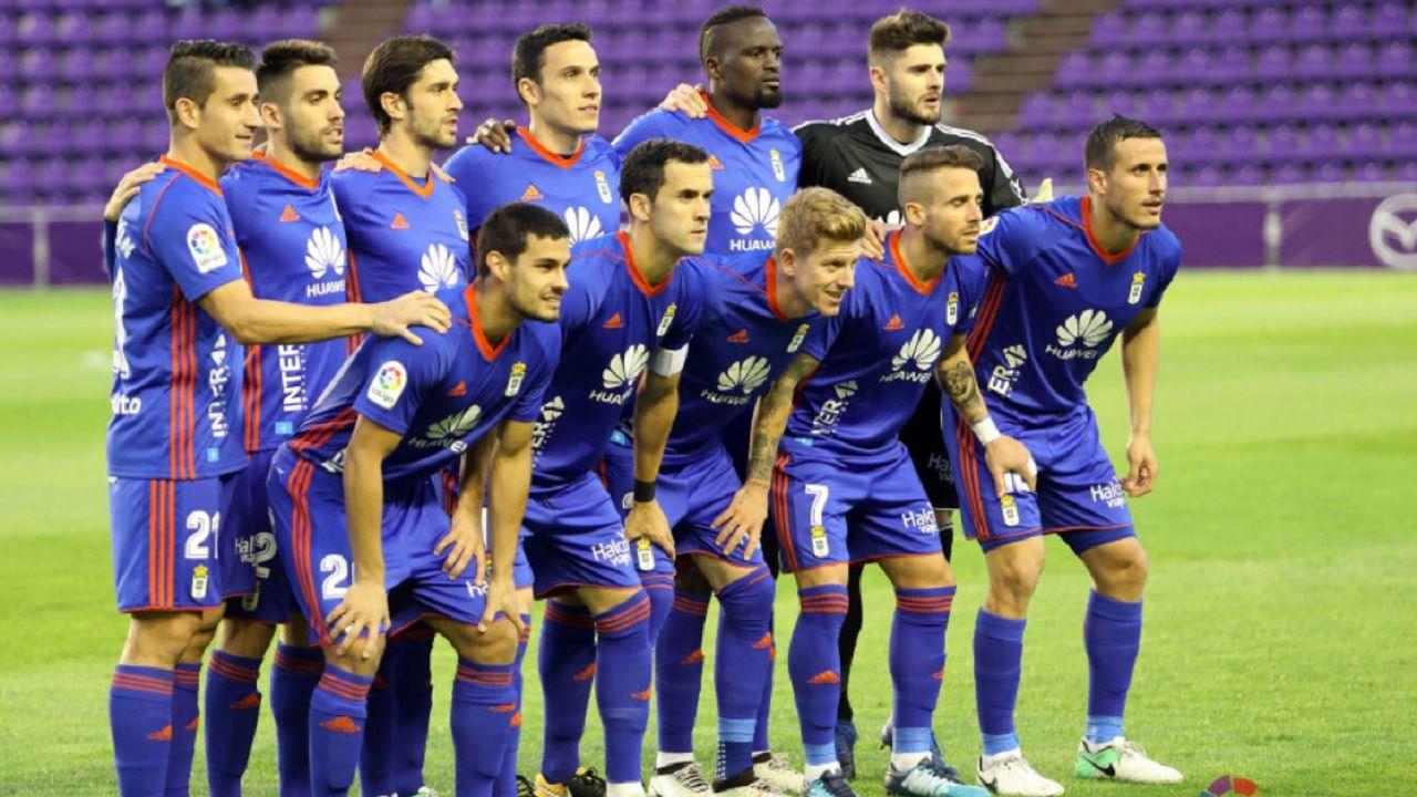 Real Oviedo Valladolid Horizontal.Alineacion del Real Oviedo en el Jose Zorrilla