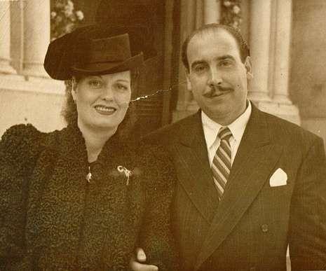 La pareja, en una imagen tomada en el año 1948
