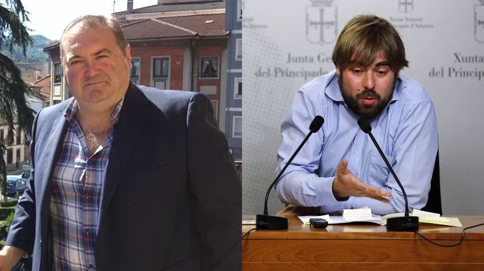 Adrián Barbón.Ramón Argüelles y Daniel Ripa