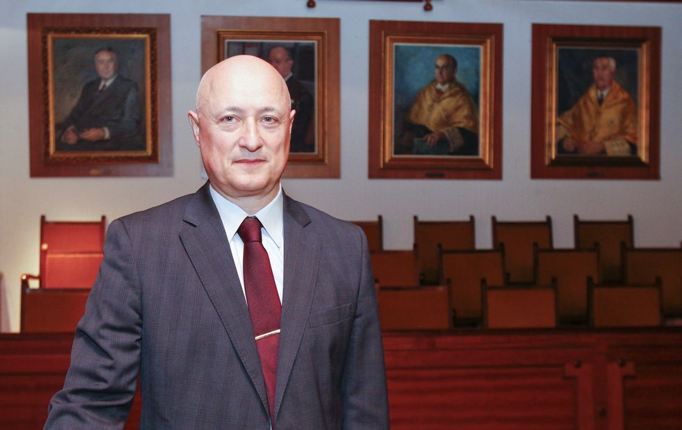 Barón Duarte, antes de la lectura de su tesis el jueves en la Facultad de Medicina.