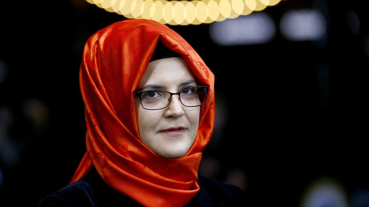 Hatice Cengiz, en la presentacióndel del documental «El disidente», del director Bryan Fogel, en el  Festival de Cine de Zúrich el pasado 2 de octubre