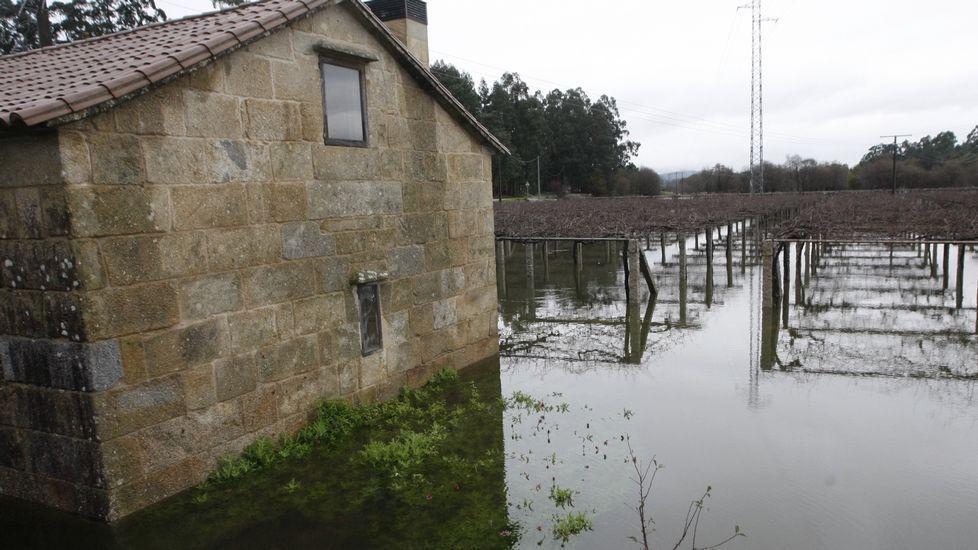 Desbordamiento del río Umia en Cambados