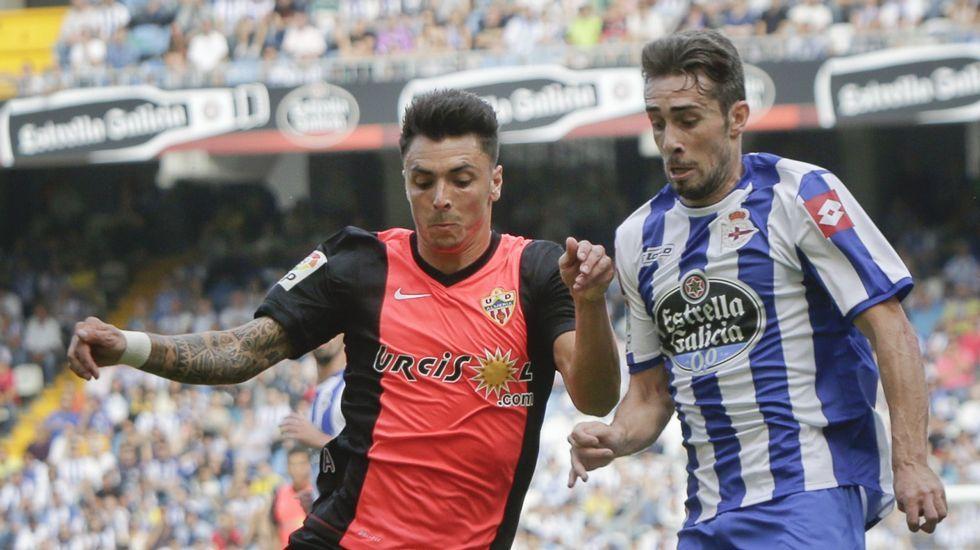 Imagen del Deportivo-Almería de septiembre en Riazor