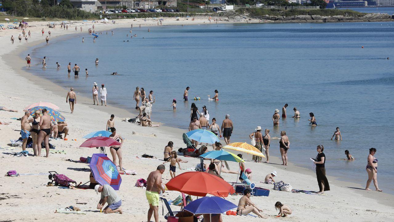 Playa de Rodeira, en Cangas