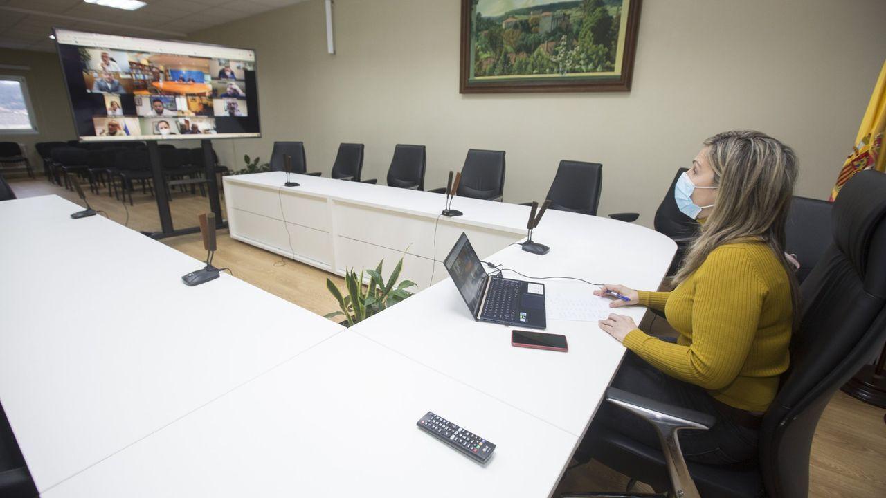 La alcaldesa de Cee trasladó al comité de trabajadores y al resto de portavoces el contenido de la reunión