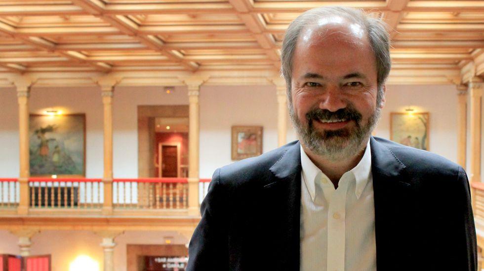 Juan Villoro, en el Hotel de la Reconquista de Oviedo