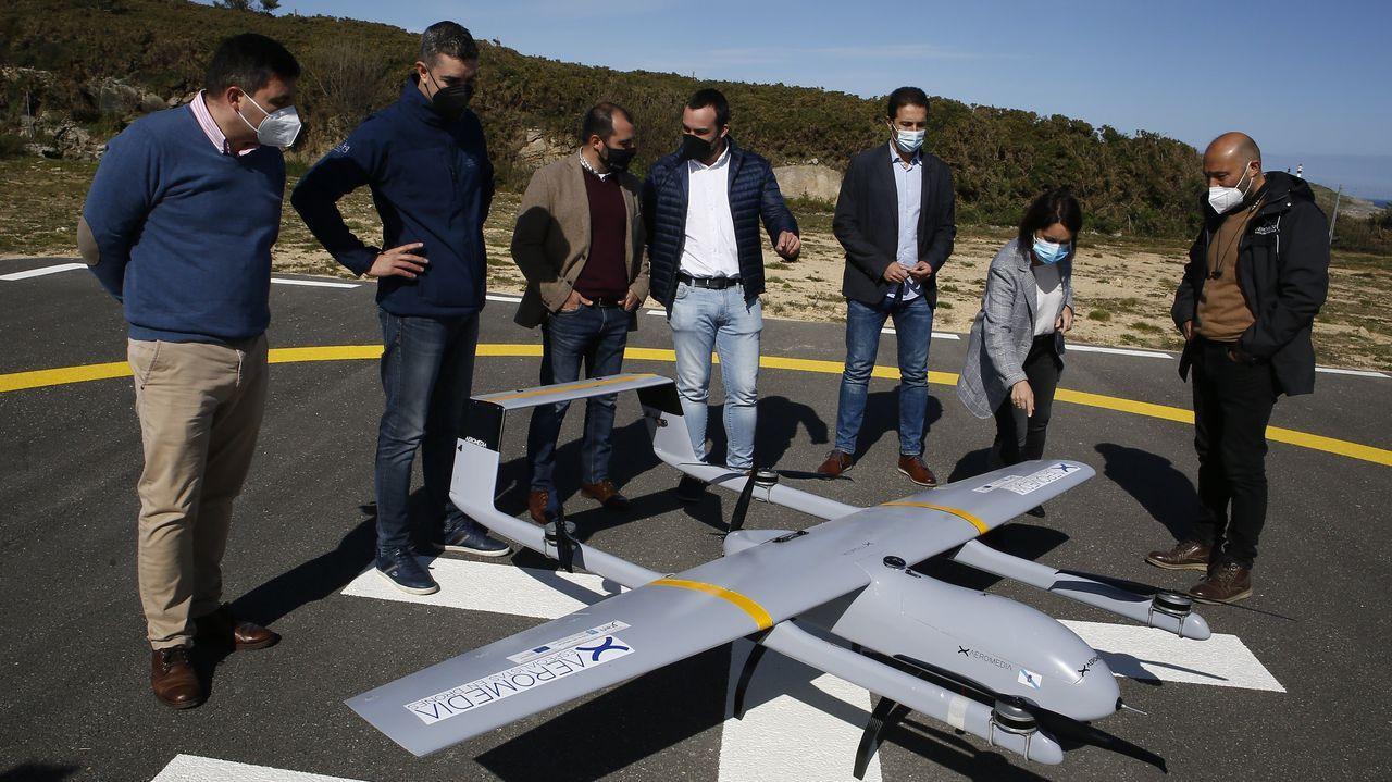Presentación de drones para aplicar al sector forestal