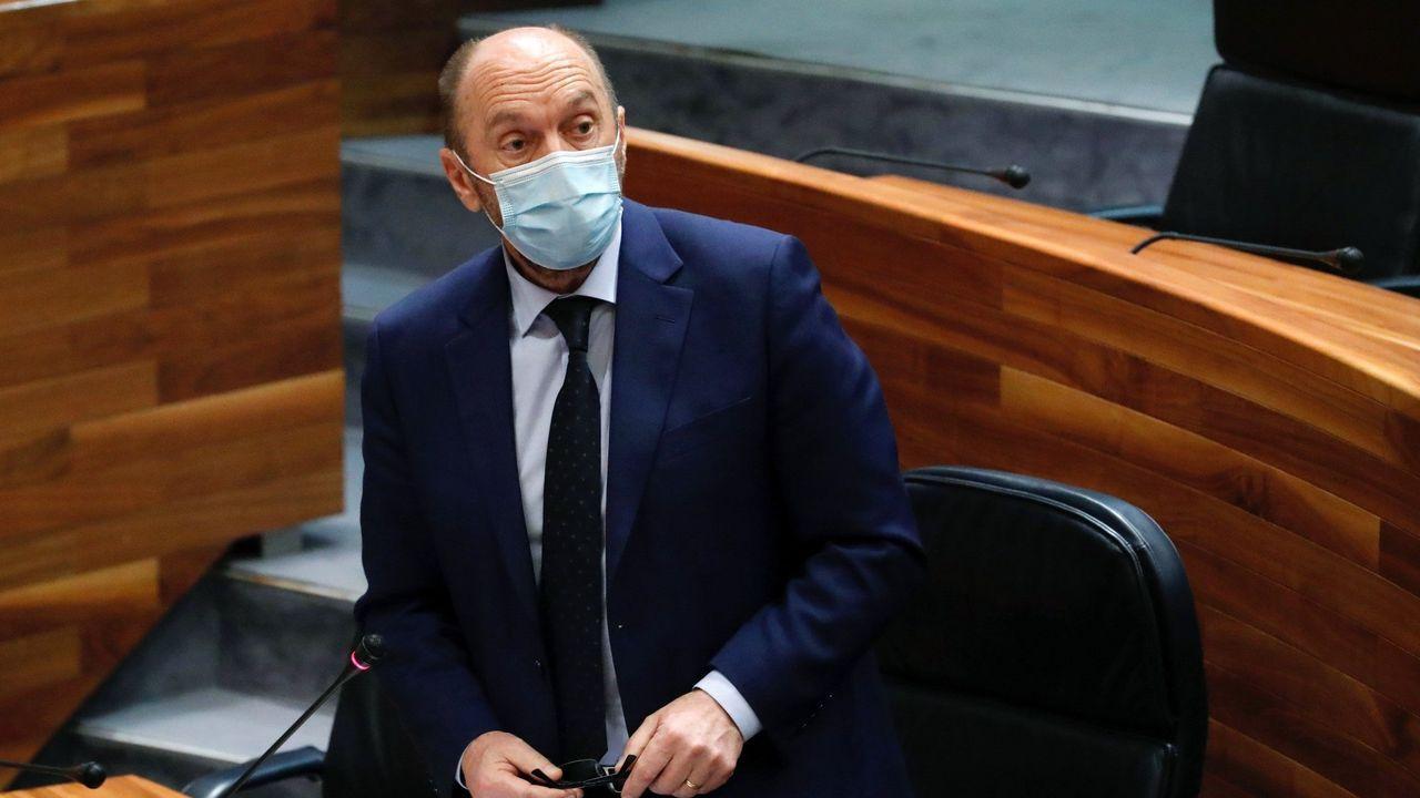 El vicepresidente del Gobierno asturiano, Juan Cofiño