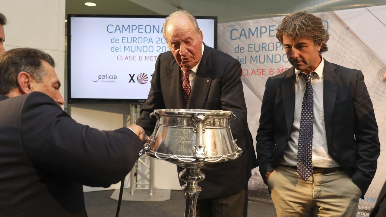 El rey emérito asisitió en octubre del 2018 a la presentación de los eventos de vela que se iban a disputar en Galicia