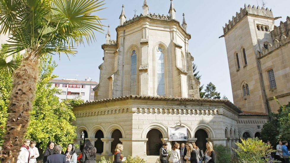 Foto de archivo del colegio Santo Ángel, en O Couto, antes del inicio de la pandemia del coronavirus