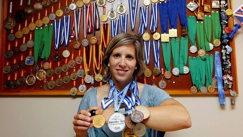 Bea Gómez, ayer en la piscina olímpica de Pontemuíños.