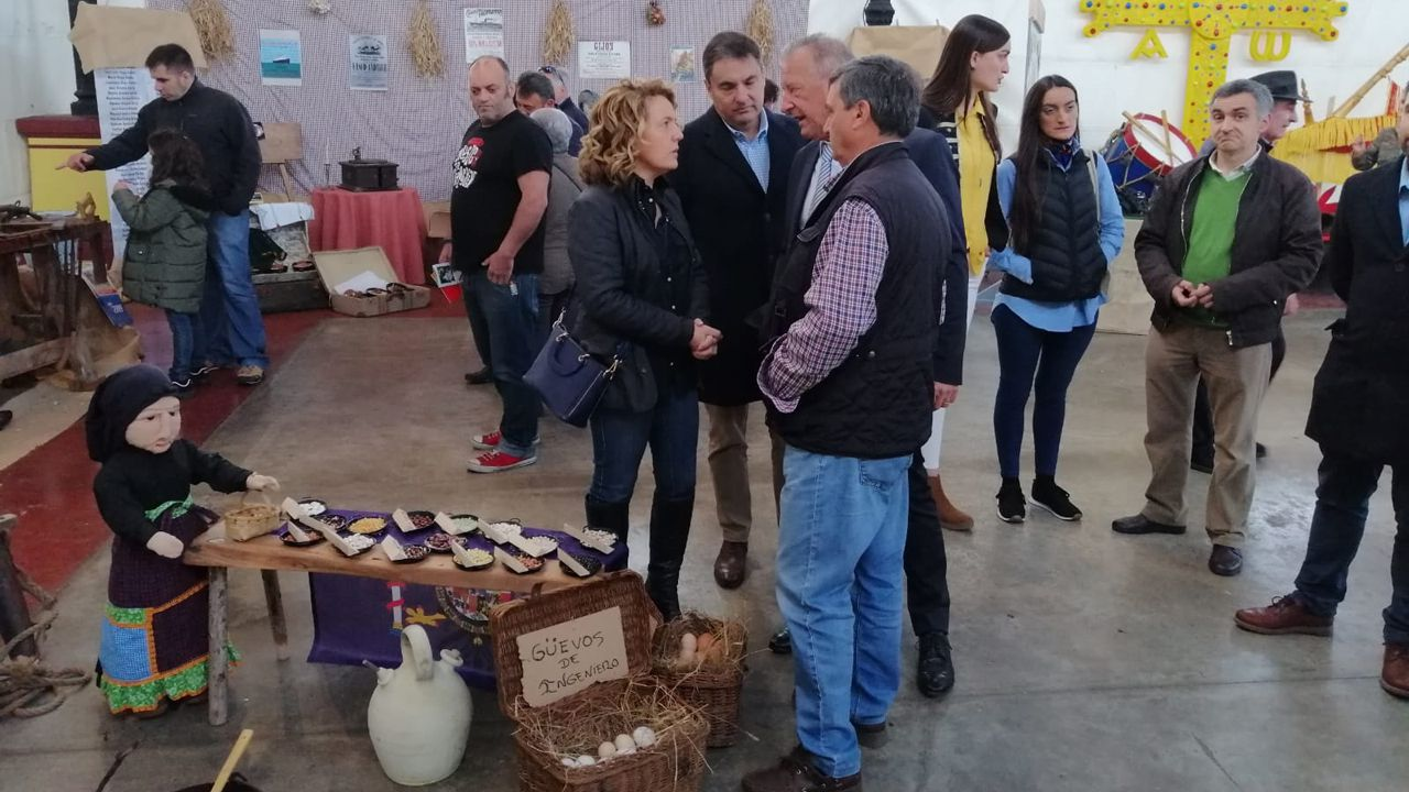 El PSOE trata de reactivarse con un mitin de Adriana Lastra.Mallada durante su visita a las XXVI Xornaes de les Fabes de Villaviciosa