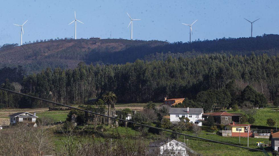 Parque eólico ubicado en Valdoviño