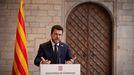 El presidente de la Generalitat, Pere Aragonès, en una comparecencia el pasado 15 de septiembre.