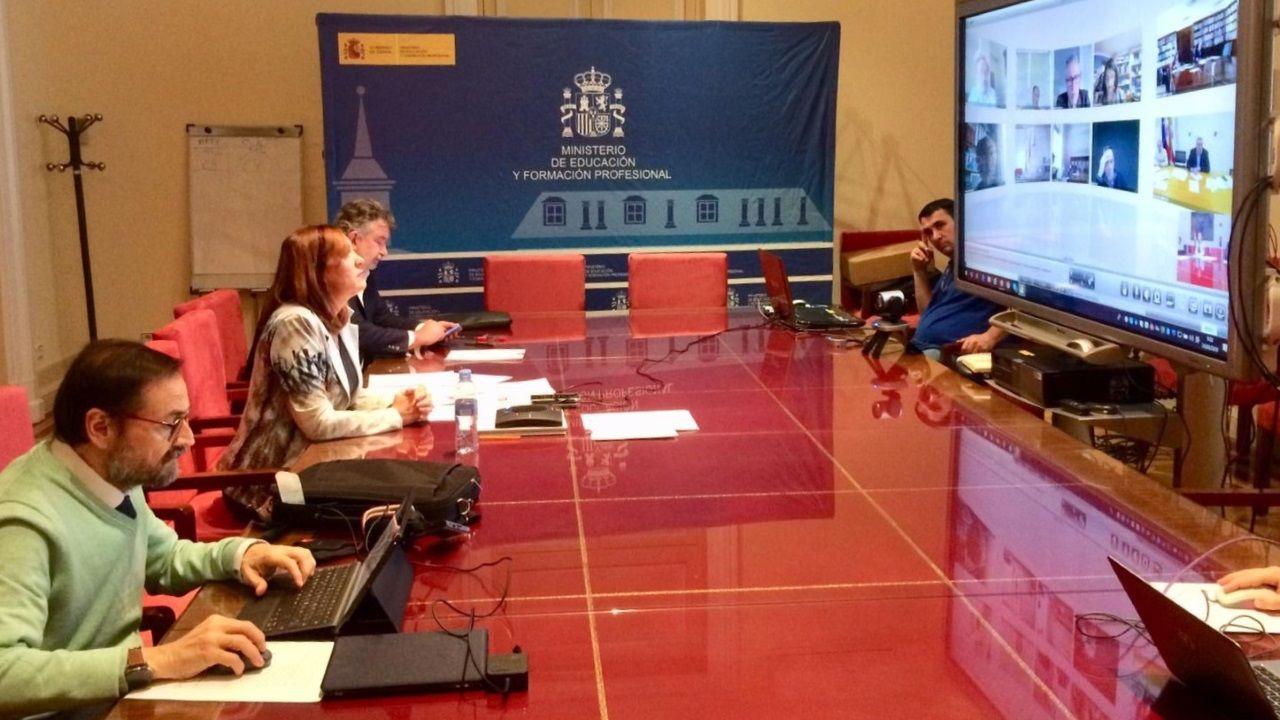 La secretaria general de FP, Clara Sanz, durante la videoconferencia con los responsables autonómicos de la formación profesional