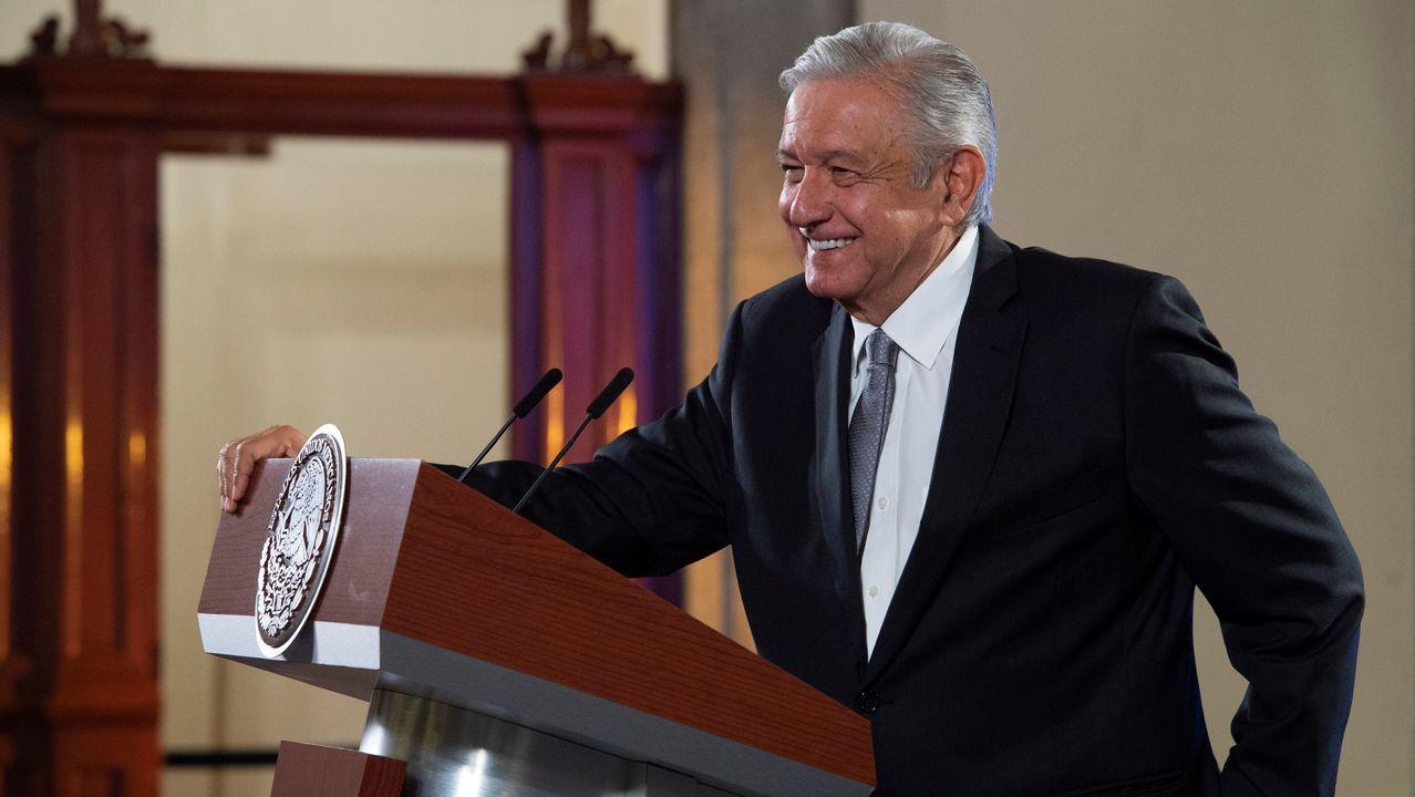 río piles desembocadura.Andrés Manuel López Obrador, este martes, en el palacio presidencial en Ciudad de México
