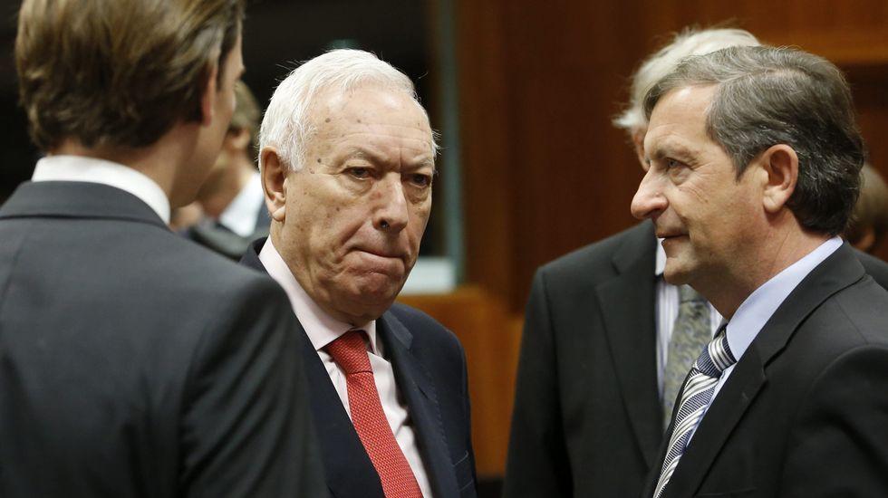 Conmoción por el asesinato a tiros en Moscú del líder opositor Boris Nemtsov.José Manuel García-Margallo participó en la cumbre extraordinaria de ministros de Exteriores de la UE.