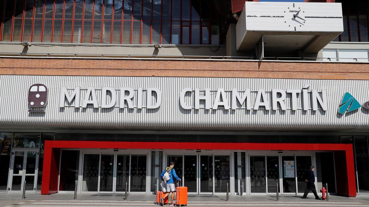 La estación de tren de Madrid-Chmartín, prácticamente desierta