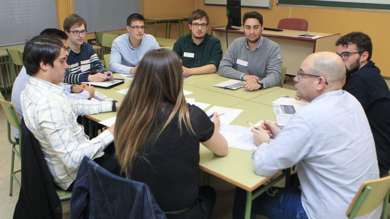 El pasado mes de abril, Navantia celebró un  meeting day  para captar talento joven en el campus. Hoy será una de las firmas que participarán en la I Xornada Universidade-Empresa