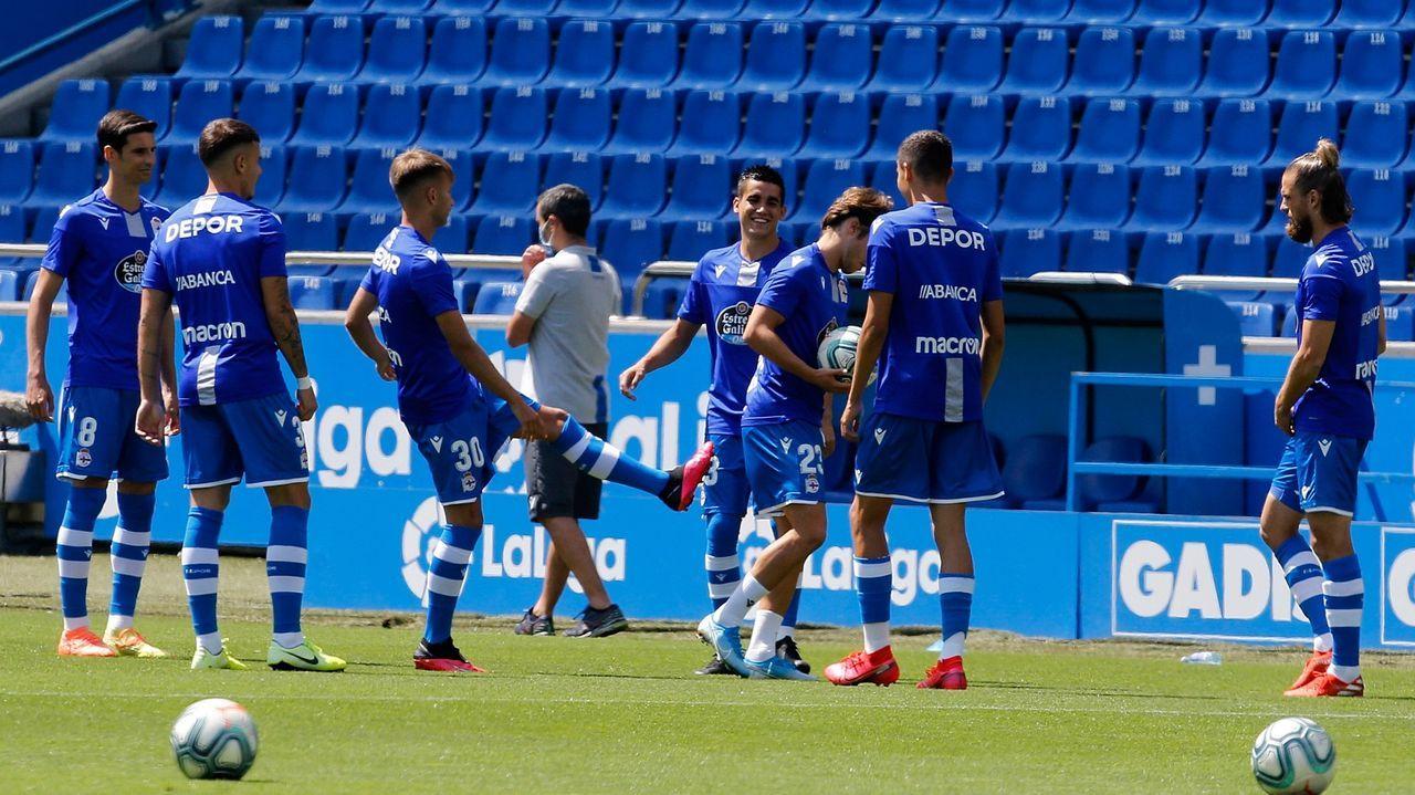 Claudio Beauvue, Álex Bergantiños, Vicente Gómez y Sabin Merino