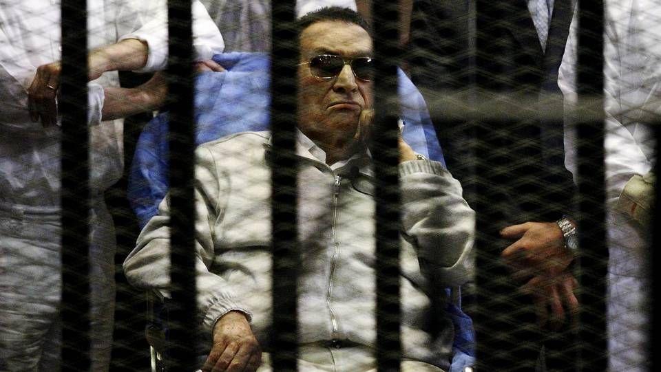 Mubarak abandona la prisión de Tora