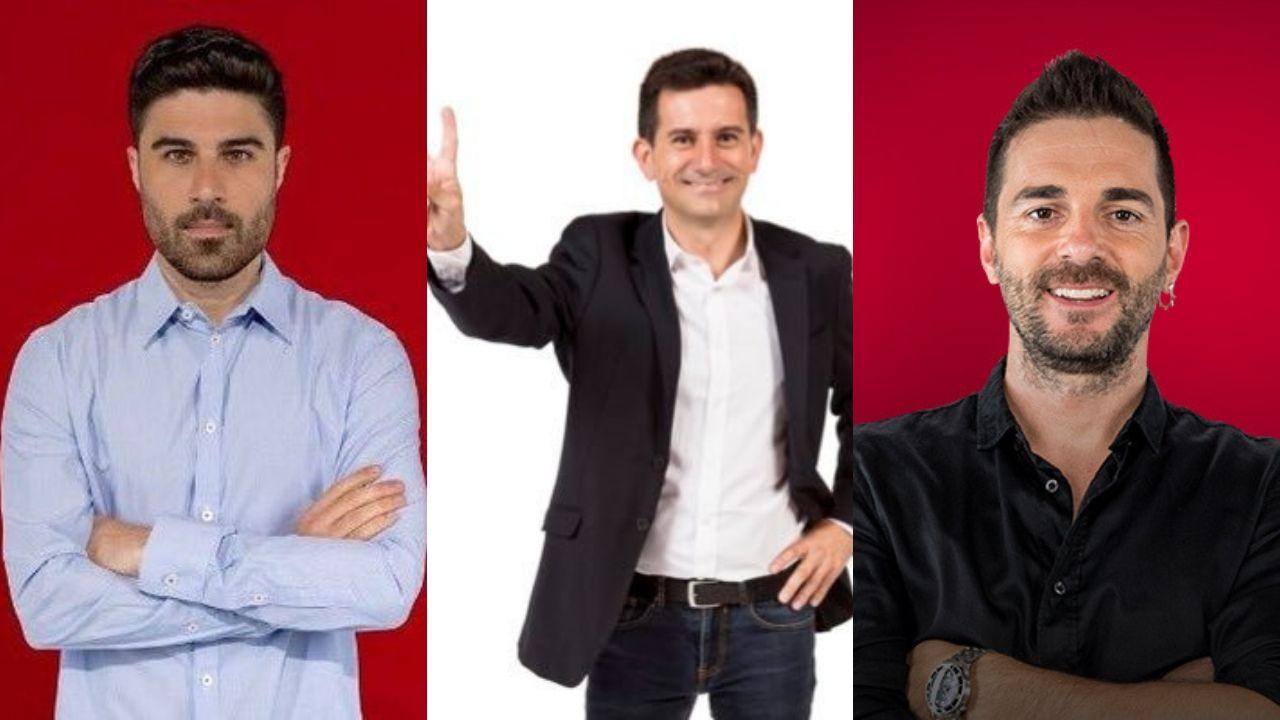 Las mejores imágenes del Deportivo - Almería.Héctor Ruiz, Sergio Sánchez y Jofre Mateu