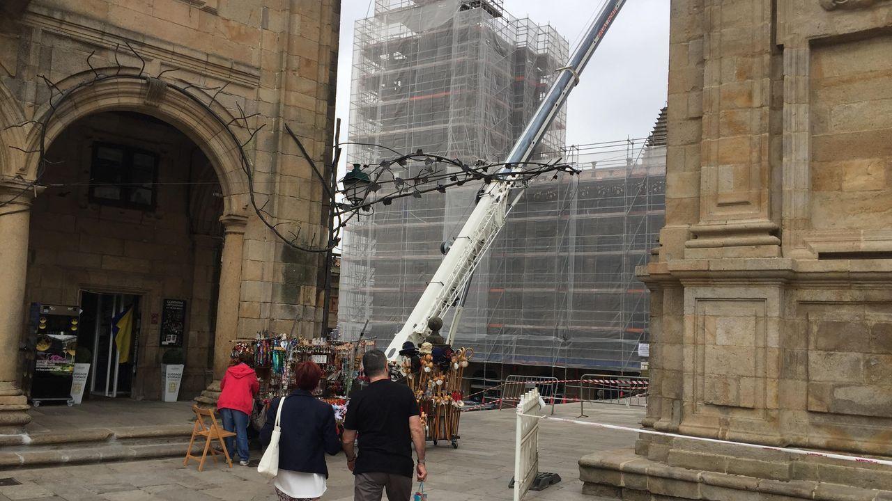 Obras en la catedral de Santiago