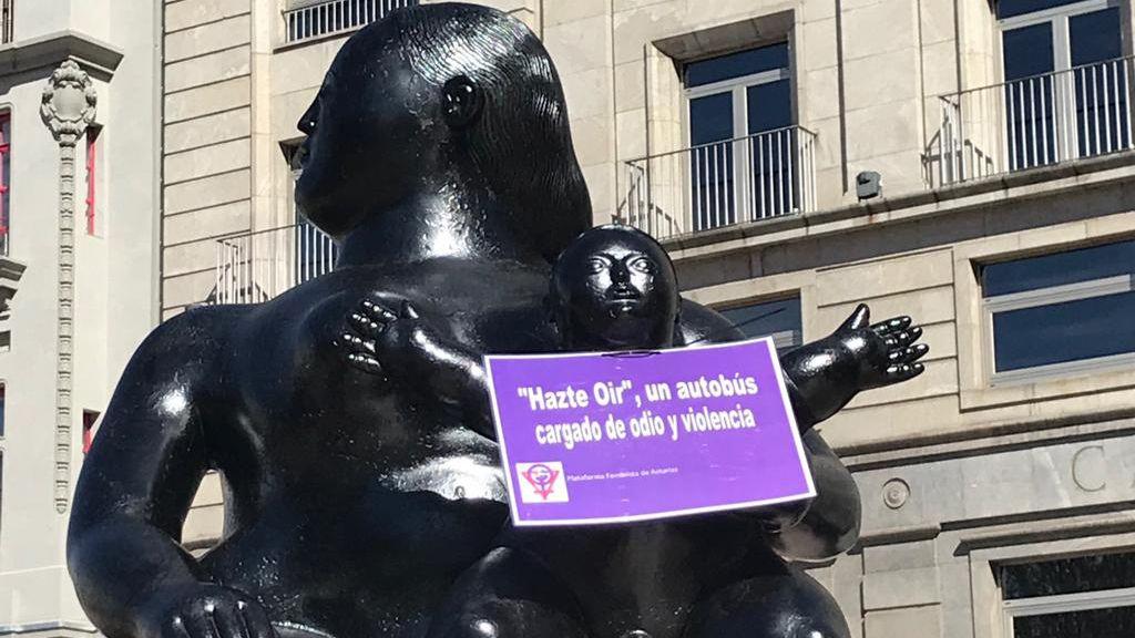 Cartel feminista en La Gorda