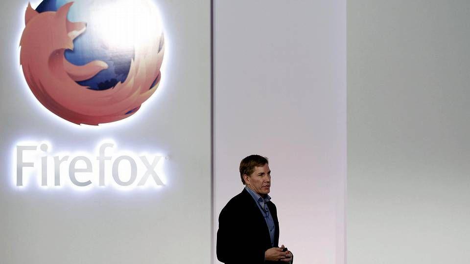 «Contigo hasta el final» de El sueño de Morfeo.Gary Kovacs, CEO de Mozilla, durante la presentación del nuevo sistema operativo para móviles Firefox OS