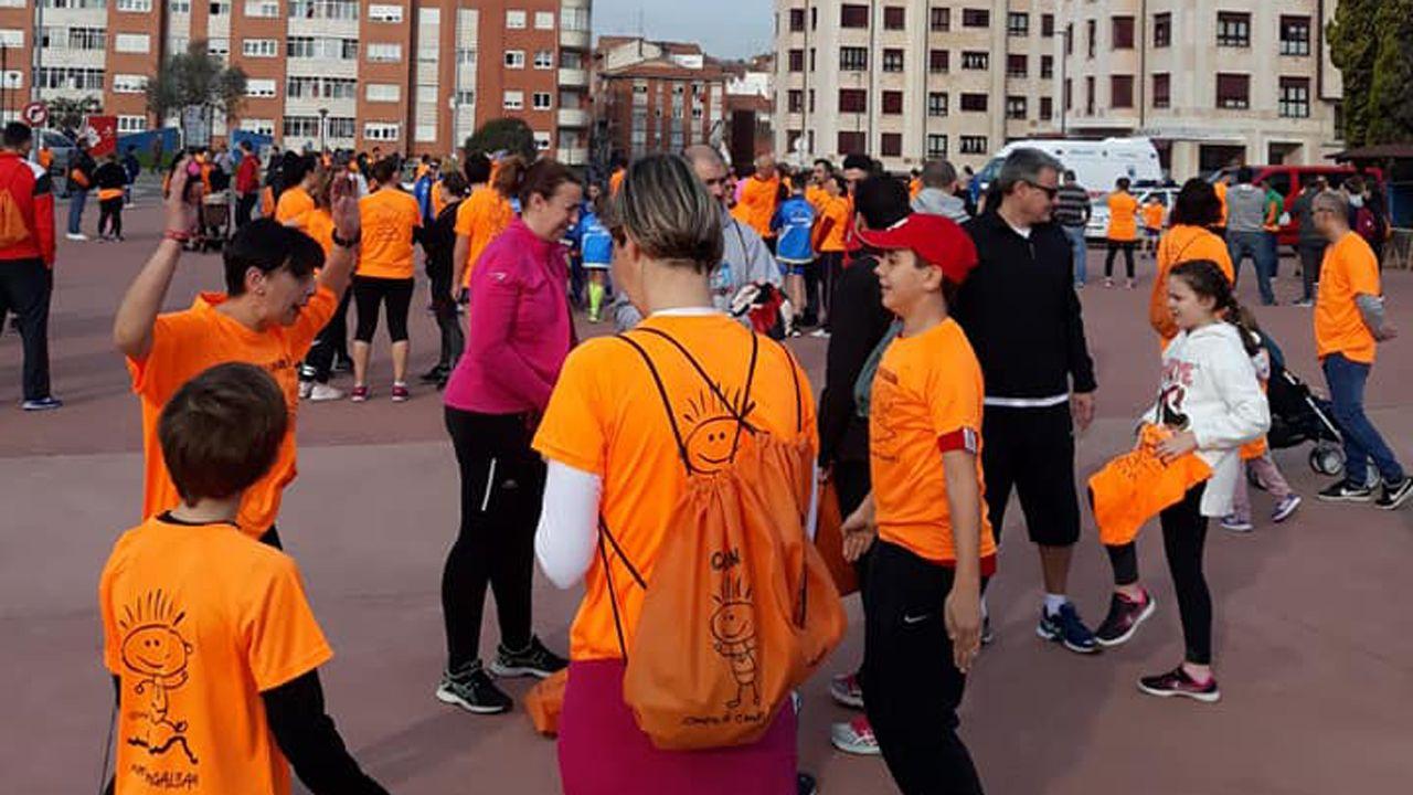 Ambiente festivo en Corvera por la carrera Galbán contra el cáncer infantil