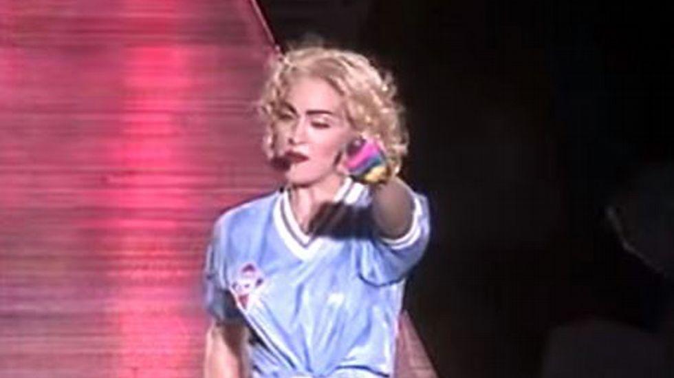 Madonna, en su concierto en Vigo de 1990